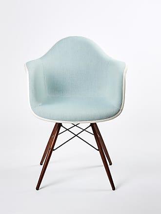Vitra DAW Plastic Armchair Dark Maple Base & Hopsak Upholstery