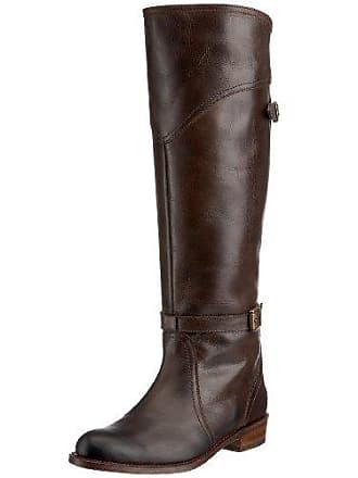 Frye Womens Dorado Buckle Riding Boot, Dark Brown Full Grain, 7.5 M US