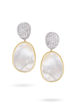 c76dcee7e175 Marco Bicego Lunaria Large Drop Earrings with White Mother-of-Pearl    Diamonds
