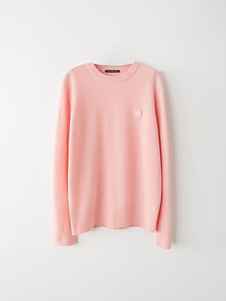 Acne Studios FA-UX-KNIT000008 Blush pink Crewneck sweater