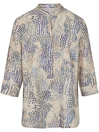 18b8391ad6 Peter Hahn Blouse turn-up sleeves in 100% linen Peter Hahn multicoloured