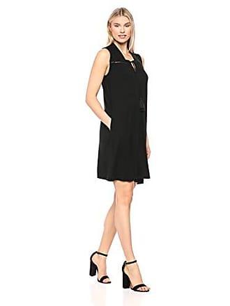 Tribal Womens Sleevless Jersey Dress w/Pkts, Black, L