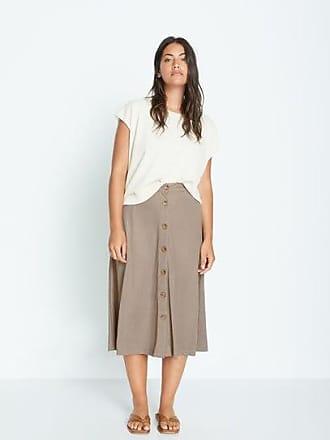 Violeta by Mango Fluid midi skirt