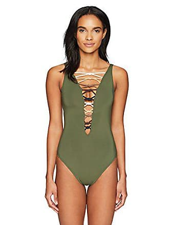 b39def9007 Bleu Rod Beattie Womens Lace Down One Piece Swimsuit, Oh So Knotty Amazon  Green,