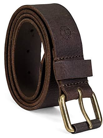 Timberland Mens 40Mm Milled Pull Up Leather Belt, Dark Brown, 36