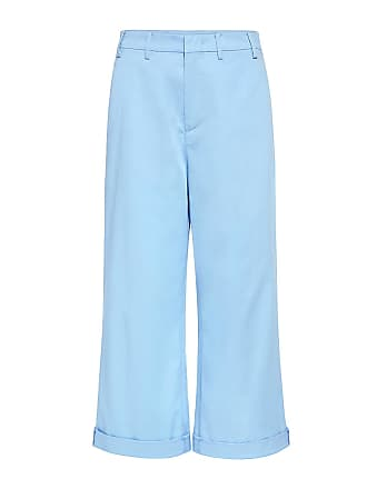 N°21 Wide-leg Cropped Pants Light Blue