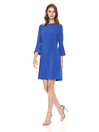 Tommy Hilfiger Womens Jersey Bell Sleeve Dress, Celestial, 10