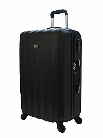 Yin's Mala de Viagem Grande ABS c/Carrinho 360º Preta YS2042P-G