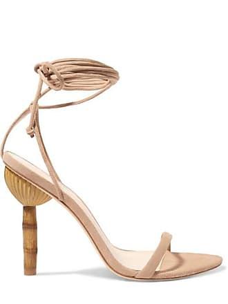 Cult Gaia Luna Suede Sandals - Beige
