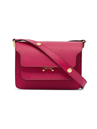 Marni pink small trunk leather shoulder bag