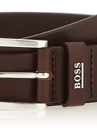 BOSS Mens Jor-logo_sz35 Belt, Brown (Dark Brown 202), 42 (size: 95)