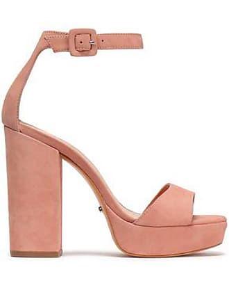 Schutz Schutz Woman Suede Platform Sandals Antique Rose Size 9.5