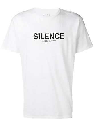 Wood Wood Camiseta Silence com logo - Branco
