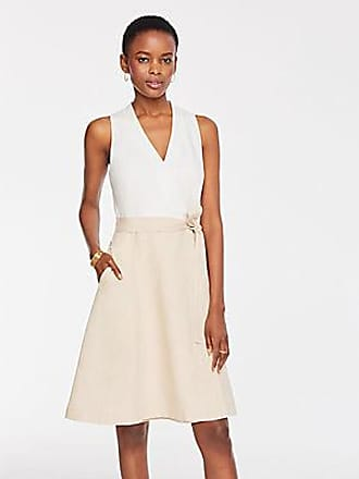 ANN TAYLOR Petite Two Tone Flare Pocket Dress