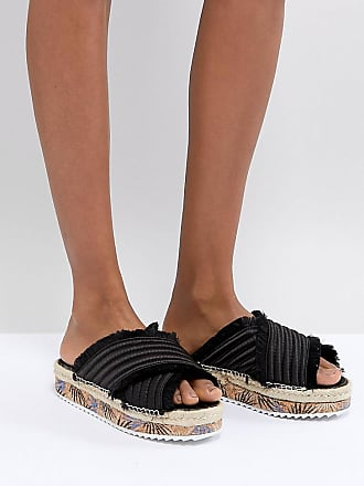 Sixtyseven Adiva Black Satin Flatform Sandals - Black