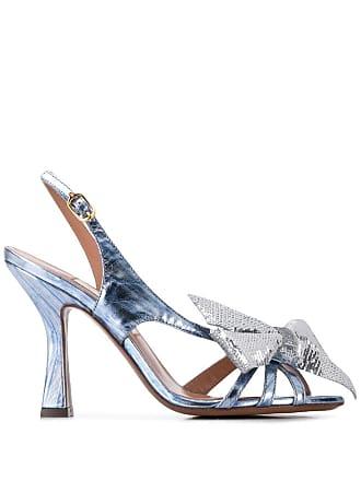 L'autre Chose bow detail sandals - Blue