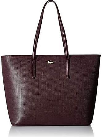 Lacoste Womens Zip Shopping Bag, NF2335CE,winetasting