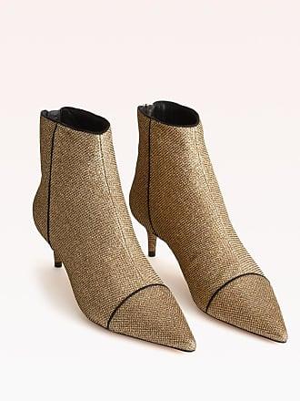 Alexandre Birman Kittie Bootie - 35.5 Oro Gold Fabric