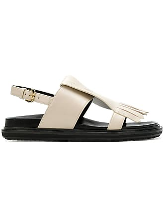 Marni Fussbett fringed sandals - Neutrals