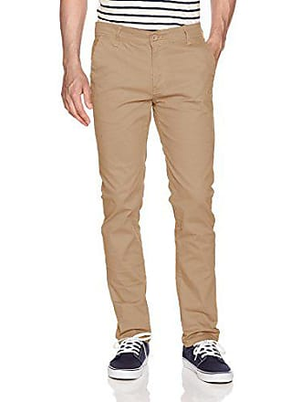 WT02 Mens Long Basic Stretch Skinny Chino Pant, Light Khaki(New), 42X32