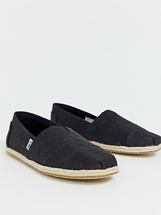 7ef8829f55e Toms espadrilles in black linen with rope detail
