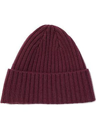 N.Peal N.peal Woman Ribbed Cashmere Beanie Burgundy Size ONESIZE