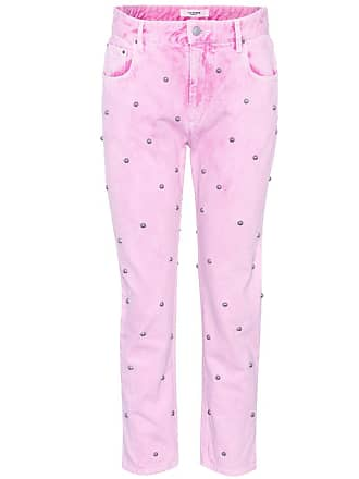 Isabel Marant Fliffa studded high-waisted jeans