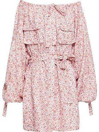 Zimmermann Zimmermann Woman Off-the-shoulder Floral-print Linen Dress Antique Rose Size 3