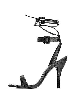 959bfe289be ZARA Womens Animal Print Leather Heeled Sandals 1374 001 (3 UK) Black