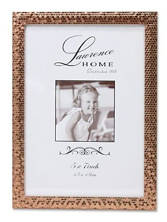 Lawrence Frames Rose Shimmer Metal Picture Frame, 5 by 7-Inch, Gold