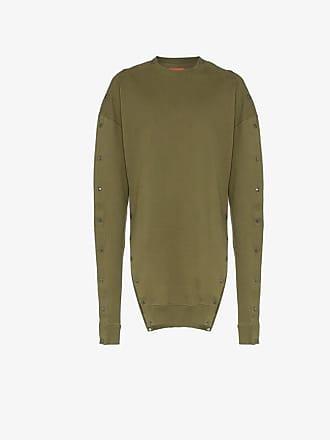 Diesel popper button cotton sweatshirt