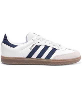 low priced bdf46 3271d adidas Originals Samba Og Sneakers Aus Leder Und Veloursleder - Weiß