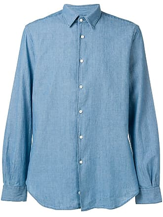 Aspesi Camisa slim - Azul