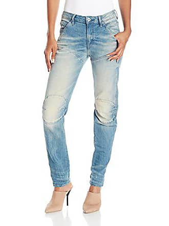 G-Star Womens 5620 3D Low Rise Boyfriend Fit Jean in Cyclo Stretch, Light Aged, 26