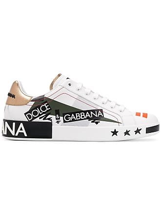 Dolce & Gabbana Love print lo-top sneakers - White