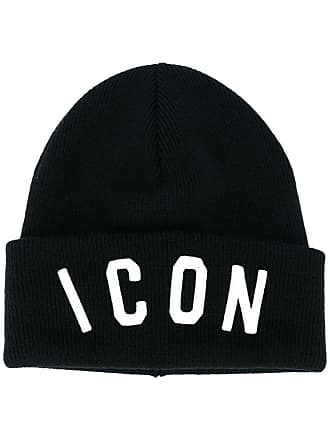 Dsquared2 Icon slogan beanie hat - Black 6d4f8c0eb544