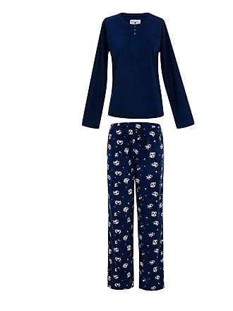 Any Any Pijama Soft Navy Cats Azul Marinho G