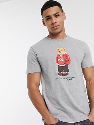 Polo Ralph Lauren T-shirt grigia con logo a orso-Grigio