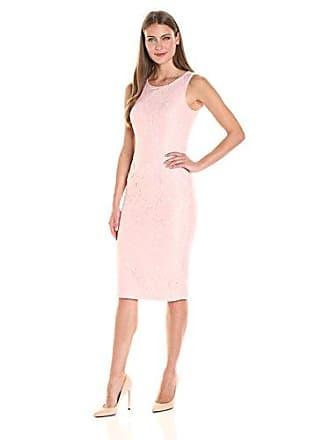 Ivanka Trump Womens Sleeveless Lace Dress, Blush Pink, 2