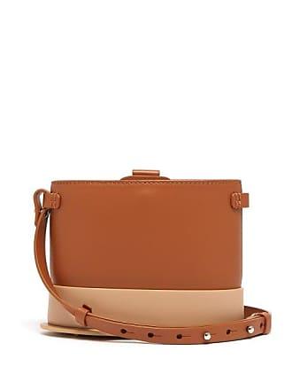 Nico Giani Frerea Oval Leather Cross Body Bag - Womens - Tan Multi