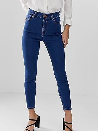 dc9f94c5ad Asos Petite ASOS DESIGN Petite - Ridley - Jean skinny taille haute - Bleu  délavé -