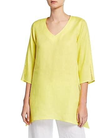 ea195941 Caroline Rose Plus Size V-Neck Split-Sleeve Tissue-Linen Side-Fall