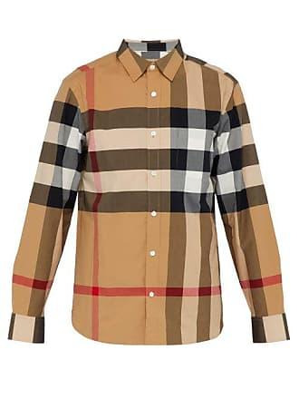 Burberry Windsor House Check Cotton Blend Shirt - Mens - Camel