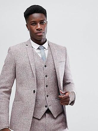 Noak Kostymjacka i Harris-tweed med smal passform - Rosa ab8efc809d243