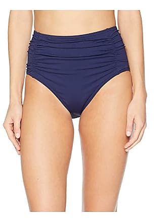 46dde0853f Tommy Bahama Pearl Shirred High-Waisted Swim Pant (Mare Navy) Womens  Swimwear