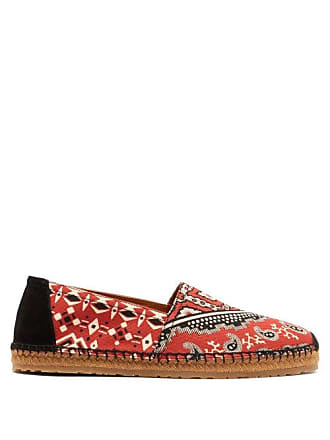 Etro Paisley Canvas Espadrilles - Mens - Red