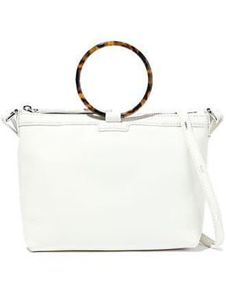8d021b26b2 Kara Kara Woman Ring Pebbled-leather Shoulder Bag Off-white Size