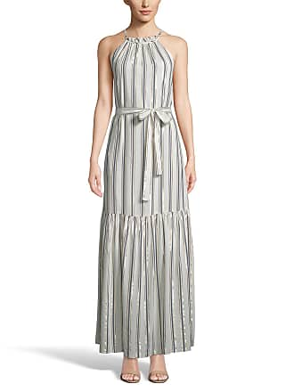 5twelve Striped Tiered Halter Maxi Dress