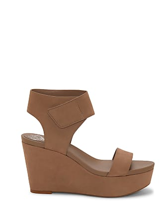 Vince Camuto Womens Velista Platform Wedges Smoke Show Size 10.5 Leather From Sole Society