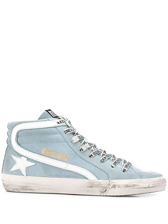 Golden Goose ankle length logo sneakers - Blue
